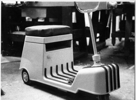 SCOOTER ELETTRICO, prototipo, laboratorio Sacchi, 1968 jpg